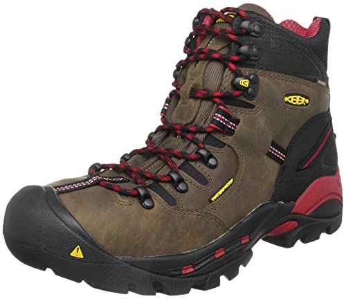 KEEN Utility Men's Pittsburgh Steel Toe Work Boot,Bison,9.5 D US