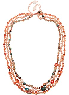 Lola Rose Women's Base Metal Ipanema Long Tumble Tropical Or Rock Crystal Necklace of Length 88 cm khmmeeS