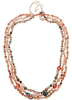 Lola Rose Women's Base Metal Ipanema Long Tumble Tropical Or Rock Crystal Necklace of Length 88 cm