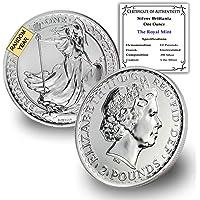 1997 UK - Present (Random Year) 1 oz Silver Britannia Coin Brilliant Uncirculated £2 w/Certificate of Authenticity by…