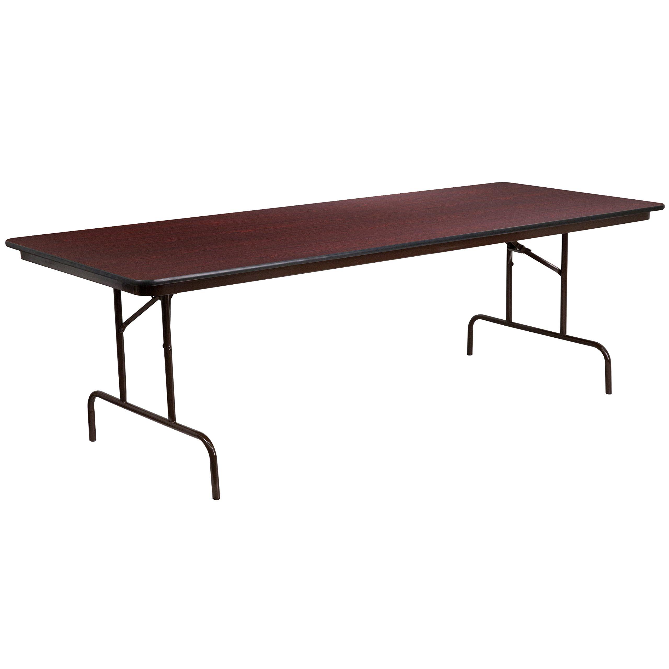 Flash Furniture 36'' x 96'' Rectangular High Pressure Mahogany Laminate Folding Banquet Table