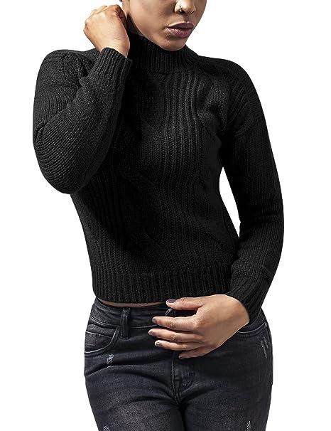 Pull Noir Short Turtleneck Urban Ladies Col 7 À Roulé Femme Classics Sweater qU1ZSw