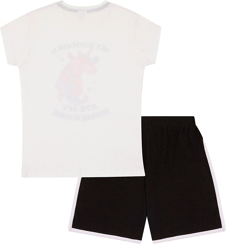 Girls My Unicorn Ate My Homework Cotton Short Pyjamas