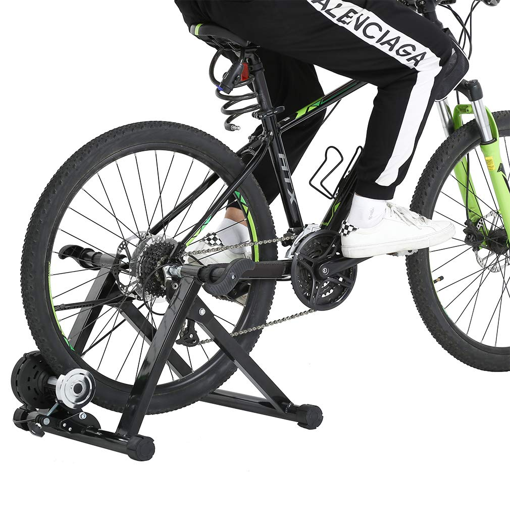 Quality Cycle Bike Trainer Indoor Bicycle Exercise Portable Magnetic Work Out +