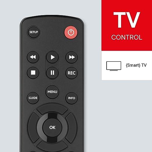 One For All URC1210 - Control remoto universal para todo tipo de TVs, Negro: Amazon.es: Electrónica