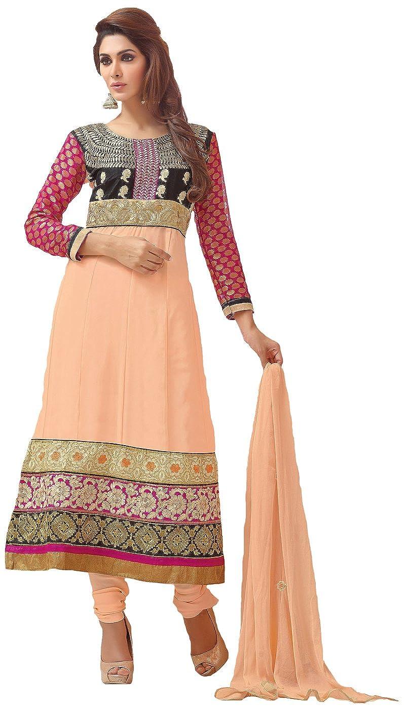 Silkbazar Embroidered Anarkali Dress Material
