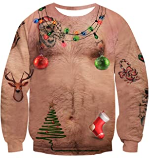 Uideazone Men Women Ugly Christmas Pullover Sweatshirts 3D Digital Printed  Graphic Long Sleeve Shirts bb06150d2