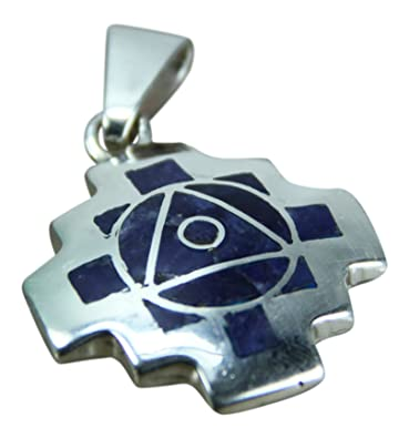 Amazon peruvian 950 sterling andean inca cross chakana necklace peruvian 950 sterling andean inca cross chakana necklace pendant reversible aloadofball Images