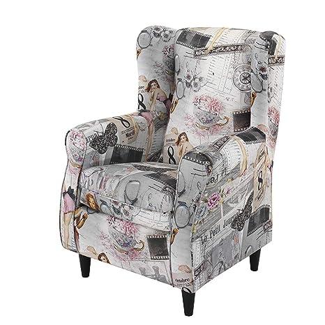 HOGAR TAPIZADO Butaca sillón orejero Nadia tapizado en Tela ...