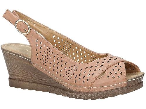 los angeles c6d35 f83f7 Casu Damen Sandalen mit Keilabsatz | Sommer Schuhe ...