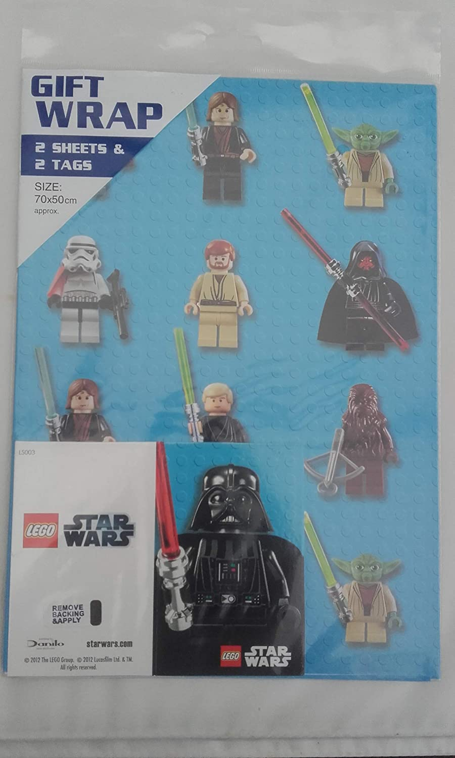 Lego Star Wars - Giftwrap (2 Sheets Folded) and Tags (2)