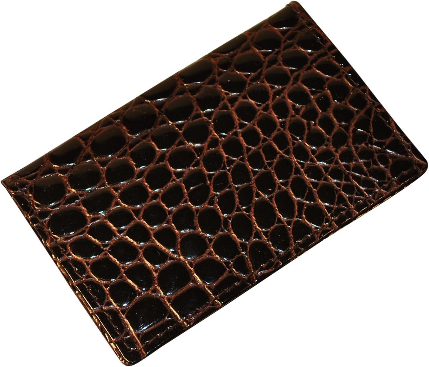 バッドLeather Crocodile Bidenteビジネスカードケース US ブラウン US 25C-2
