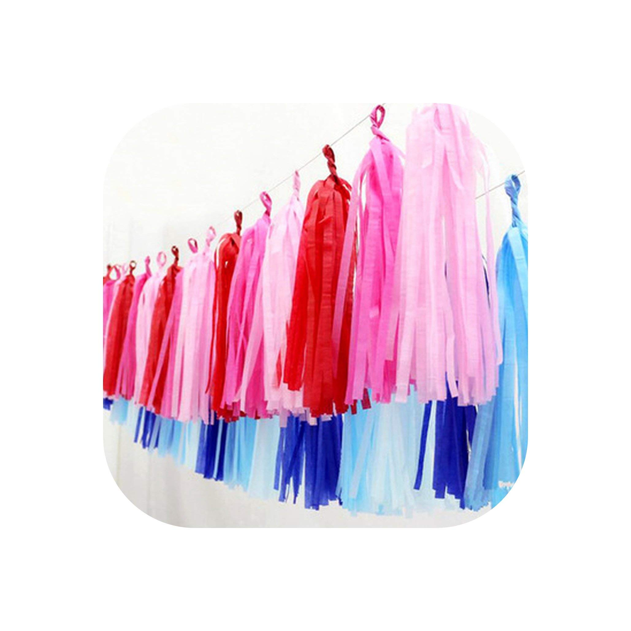 loveinfinite 1000pcs/lot Tissue Paper Tassel DIY Party Garland for Baby Shower Decoration Bridal Shower Wedding Bunting
