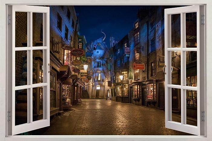 Amazoncom Hogwarts Harry Potter 3D Harry Potter Diagon Alley Night