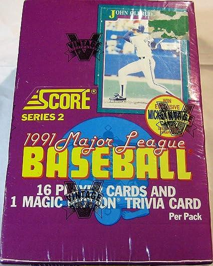 Amazoncom 1991 Score Baseball Series 2 36 Ct Wax Box Look