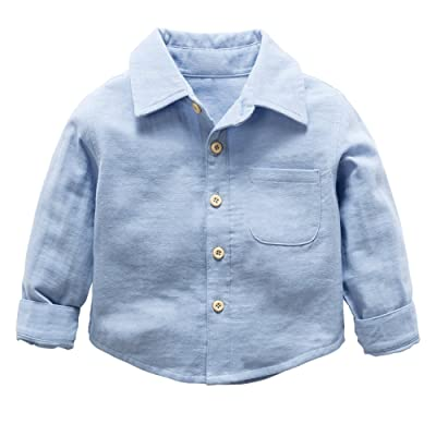 BOBORA 2018 Baby Boys Shirt Fashion Solid Color Cotton Long-Sleeve Tops Trousers Casual Cotton Pants