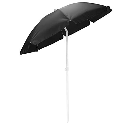 Picnic Time Outdoor Canopy Sunshade Umbrella 5.5, Black