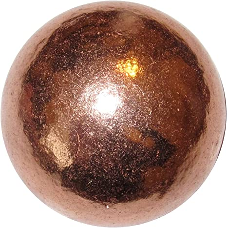 COPPER SPHERE Marble flat ends 30mm metal ball ore polished heavy solid 4.5 oz