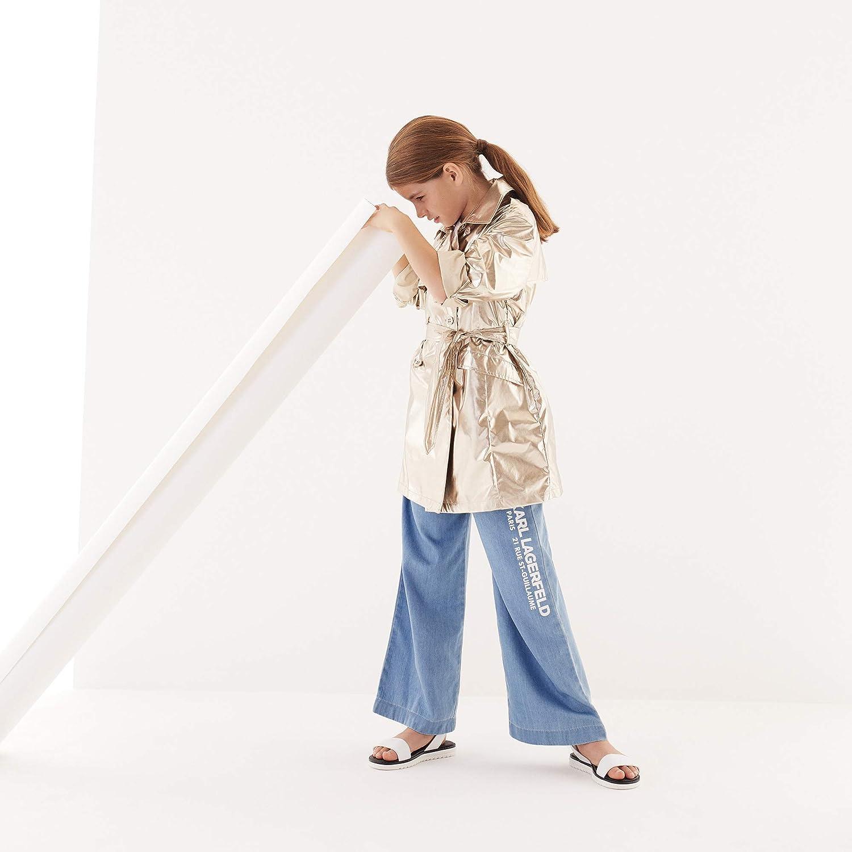 Karl Lagerfeld Kids Pantalon Ample en Denim Enfant