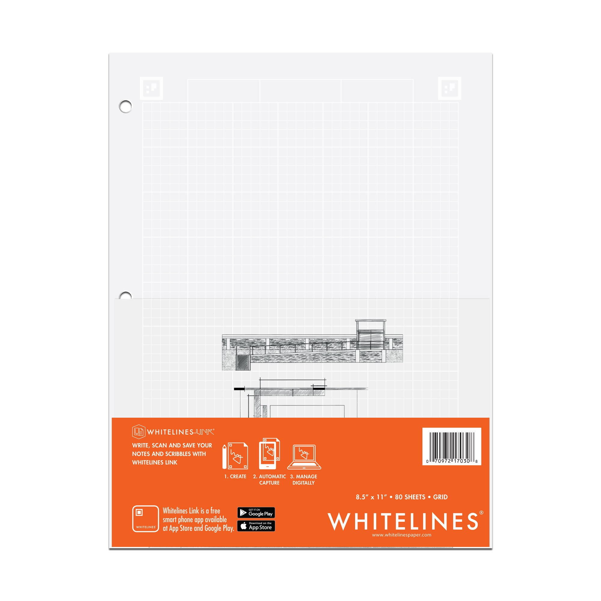 WhiteLines Paper Graph Pad (17030)