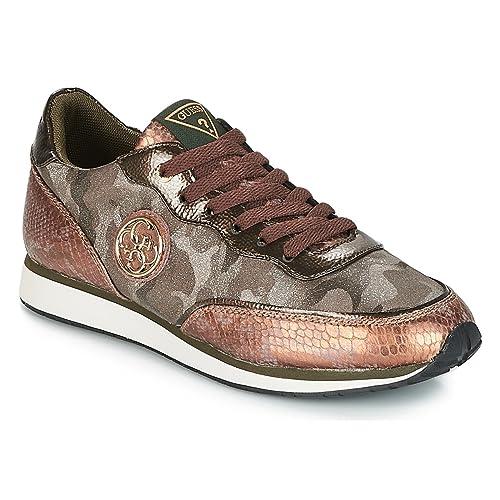 Zapatilla Mujer Guess Sunny Grey FLSNN3FAB12: Amazon.es: Zapatos y complementos