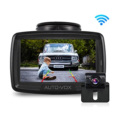 W2 NO Interference Digital Wireless Backup Camera System Kit with Built-in Transmitter, IP68 Waterproof Wireless Rear View Camera and 4.3 LCD Wireless Reversing Monitor for Trailer,Minibus, Trucks