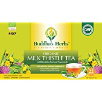 Buddha's Herbs Premium Organic Milk Thistle Tea with Dandelion Root (Pack of 4)(88 Tea bags)
