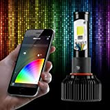 H11 2in1 LED Headlight Bulb Kit - XKchrome Smartphone App-enabled Bluetooth RGB Demon Eye + LED Headlight Conversion