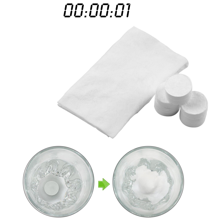 toallitas comprimidas Incutex 100x toallas comprimidas pa/ños pastillas toallitas humedas
