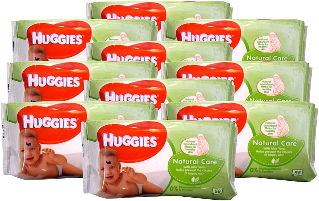 Huggies Refill Wipes, Aloe, 56 Count (Pack Of 10)