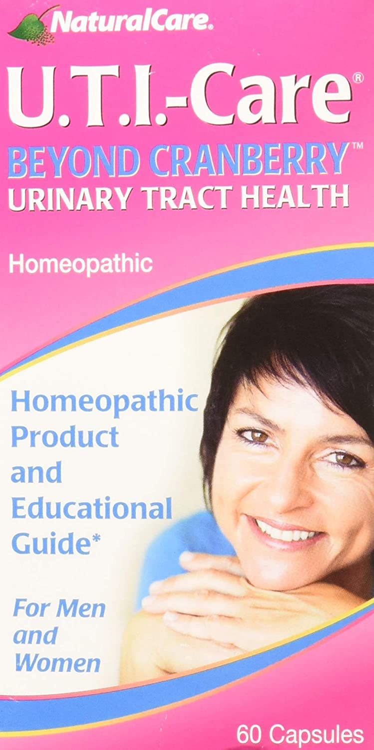 NaturalCare Homeopathic UTI-Care Capsules for Urinary Tract Health, 60-Count Packages