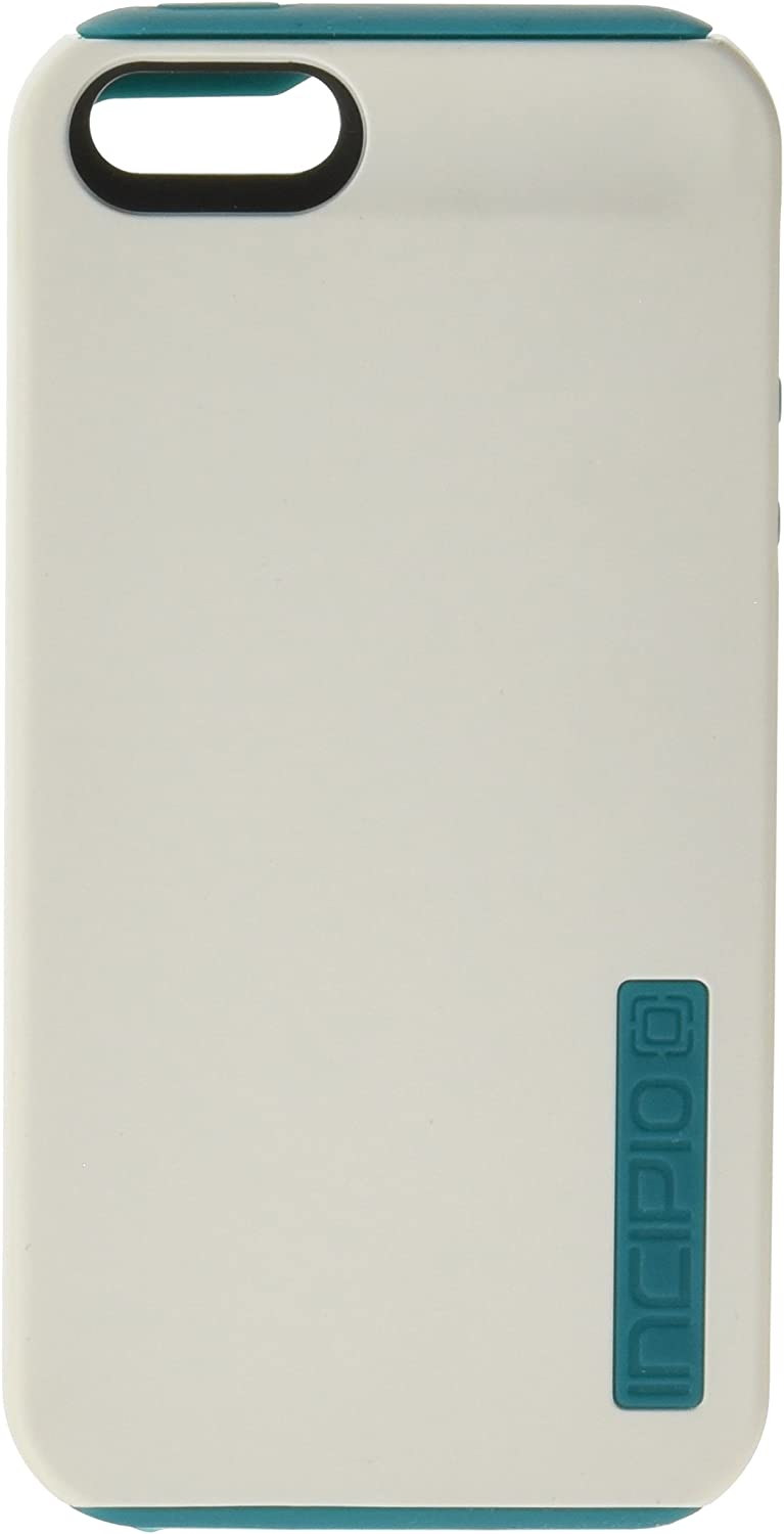 Incipio DualPro Case for iPhone 5S - Retail Packaging - White/Turquoise