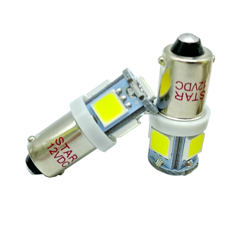 12V Bianco BA9S 5050 5-SMD 1895 T11 6253 64111 T4W H6W 363 LED Lampadina interna della porta del portello dellautomobile dellautomobile confezione da 4