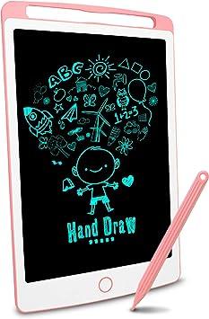 con l/ápiz /óptico tablero de dibujo KRIEITIV Tablero de escritura LCD de 10 pulgadas rosa apto para ni/ños escritura de oficina notas familiares tablero de graffiti tablero de mensajes