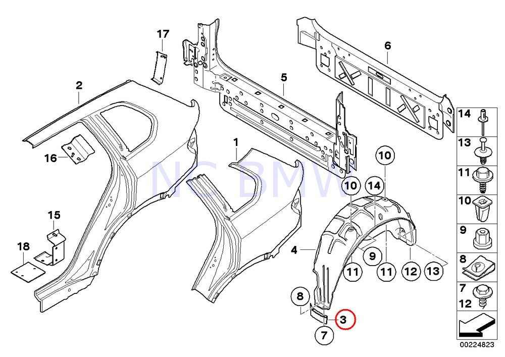 Amazon Com Bmw Genuine Rear Right Deflector Lip Automotive