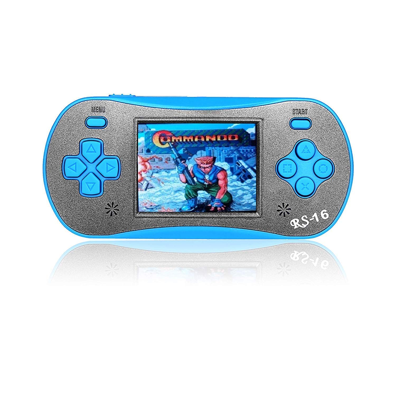 FAMILY POCKET Handheld Game Player for Kids Adults, RS16 Portable Classic Game Controller Built-in 260 Game 2.5 inch LCD Retro Arcade Video Game System Children's Birthday Gift-Blue by FAMILY POCKET