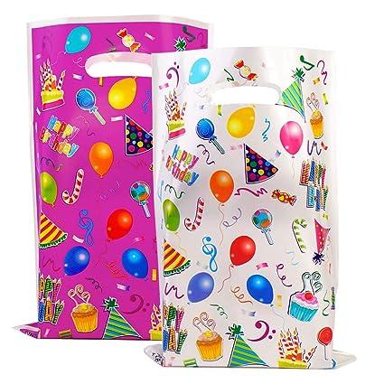 Amazon.com: 40 bolsas de plástico para regalos de cumpleaños ...