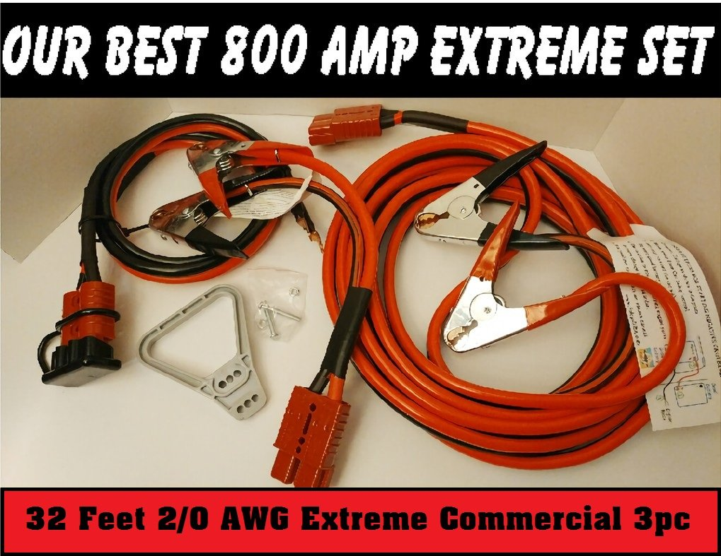 30ft 800 AMP 3pc Extreme Commercial Jump Set by PolePalUSA