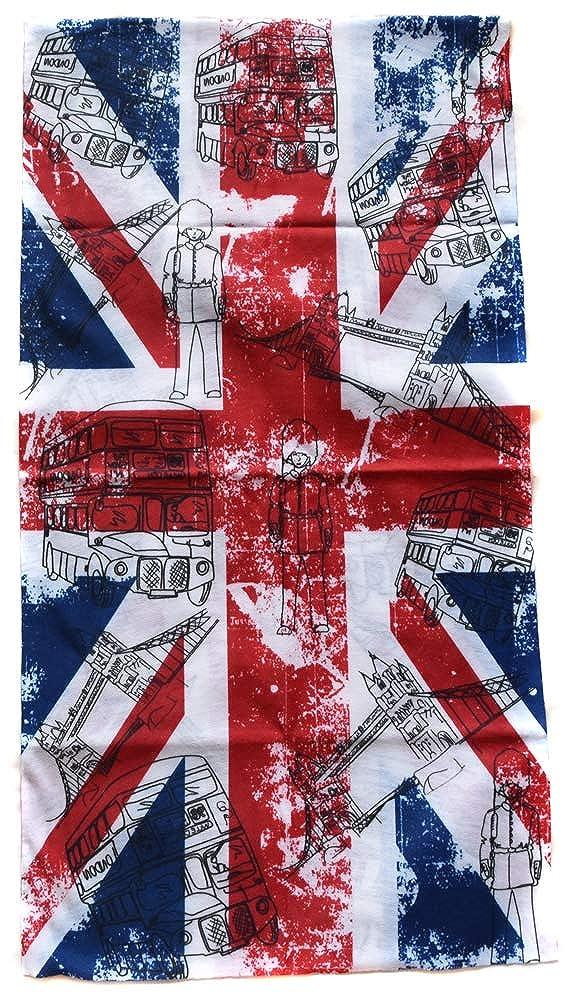 Bandana Masque Cache Cou UK Angleterre londre Tour de Cou Casque Tube