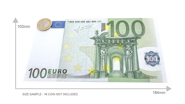 125/% Gr/ö/ße Cashbricks 75 x /€100 Euro Spielgeld Scheine vergr/ö/ßert