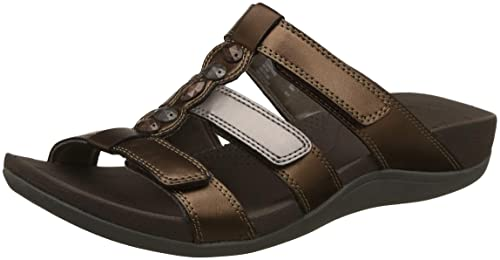 5580c35b0a72 Clarks Women s Pical Cusick Multi Metallic Leather Fashion Sandals-5  UK India (38