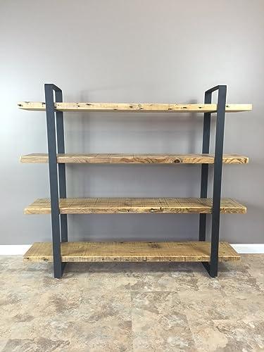 100% authentic 616e1 9ef18 Amazon.com: Reclaimed Wood Shelf/Shelving Unit with 4 Shelfs ...