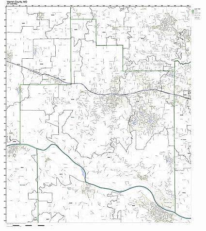 Amazon.com: Warren County, Missouri MO ZIP Code Map Not Laminated ...