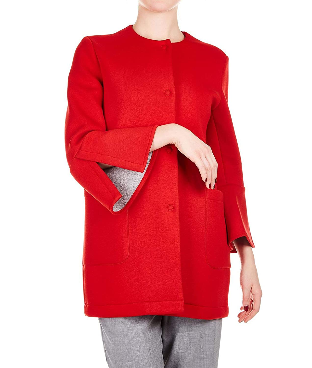 Kaos Women's LPJTZ0054009 Red Viscose Coat