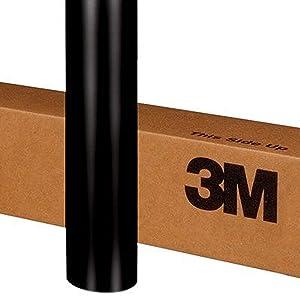 3M 2080 S12 SATIN BLACK 5ft x 2ft (10 sq/ft) Car Wrap Vinyl Film