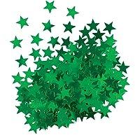 Metallic Green Star Confetti