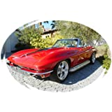 1965 Corvette 327 Convertible Picture on Mouse Pad Mousepad Classic Vintage Old Cars Hot Rods Speed Computer Desktop Supplies