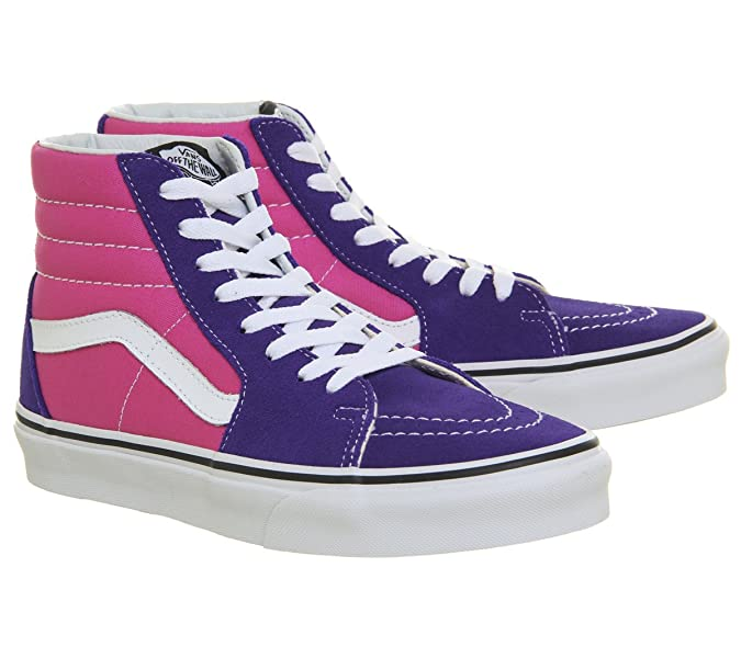 3c0dd559d21a Vans Sk8 Hi Deep Blue Hot Pink - 5 UK  Amazon.co.uk  Shoes   Bags