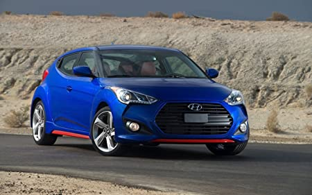 Amazon.com: Hyundai Veloster Turbo R-Spec (2015) Car Art Poster Print on 10 mil Archival Satin Paper Blue Front Side Static View 16