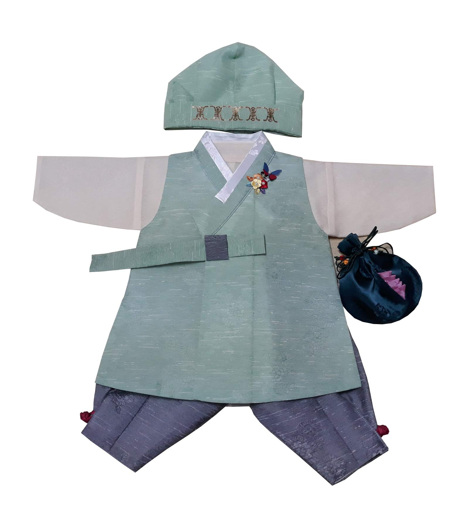 Hanbok 3M-6M 100DAYS Hanbok Korean Traditional Boys Babies Clothes 백일